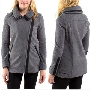 EUC Lululemon Moto Jacket Black Ambient Grey sz 10